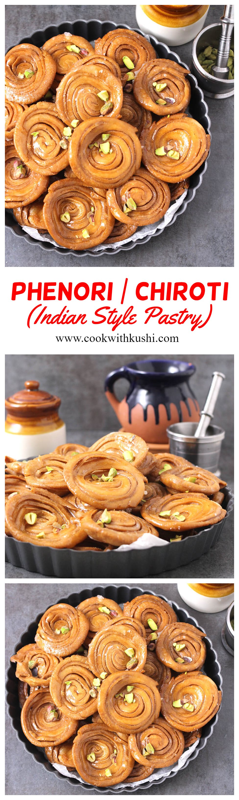 Phenori or Chiroti is a delicious, layered, crispy and crunchy, melt in mouth sweet recipe dipped in sugar syrup or coated with powdered sugar. I will have to warn you that you cannot just stop eating one.#navratrisweets #ganeshchaturthisweets #phenori #chiroti #indiansweets #popularIndiansweets #mithai #janmastamisweets #rakshabandhansweets #indianfood #indianrecipes #southindianfood #konkanifood