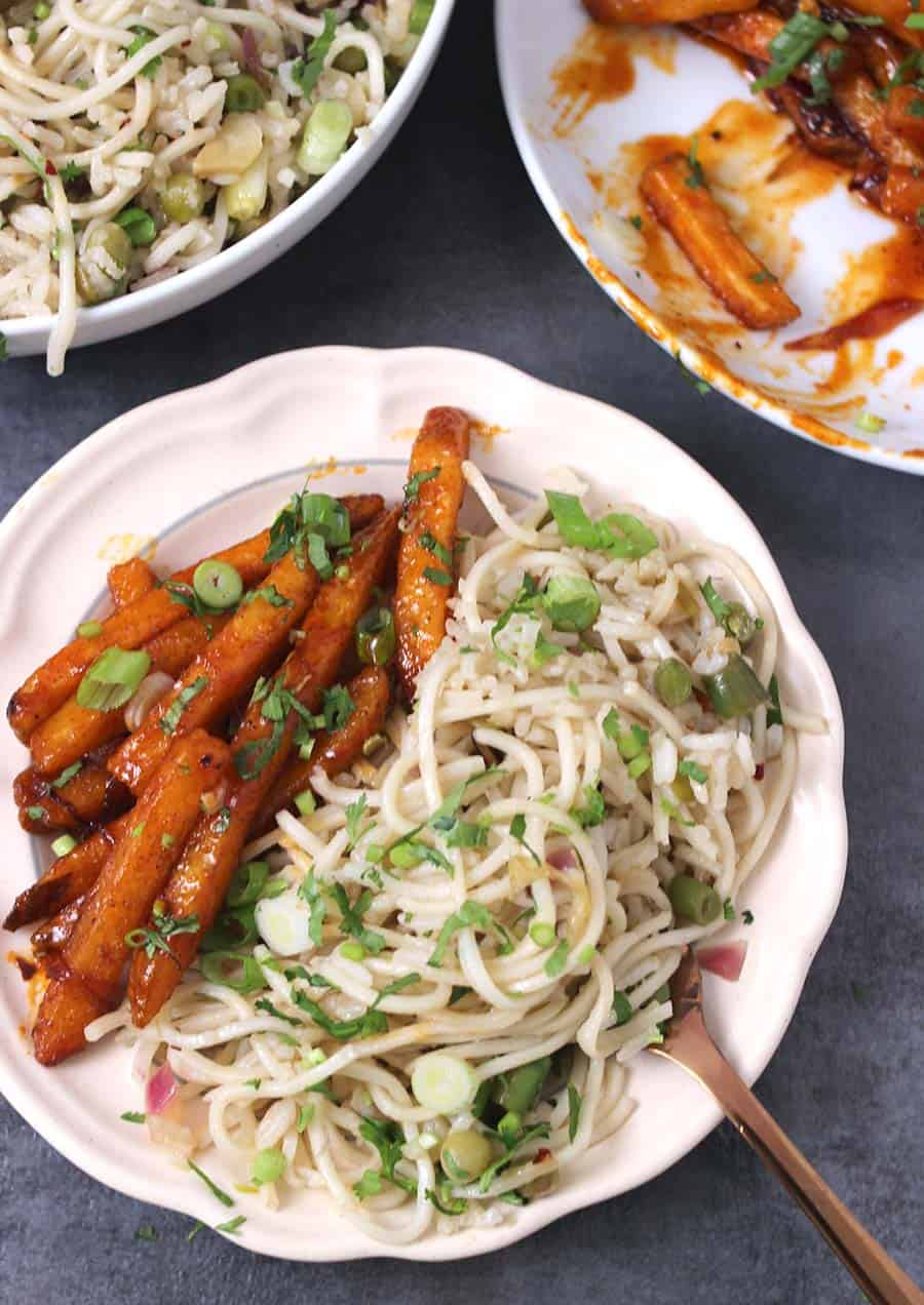 Burnt garlic rice noodles, easy rice recipes , easy noodles recipes