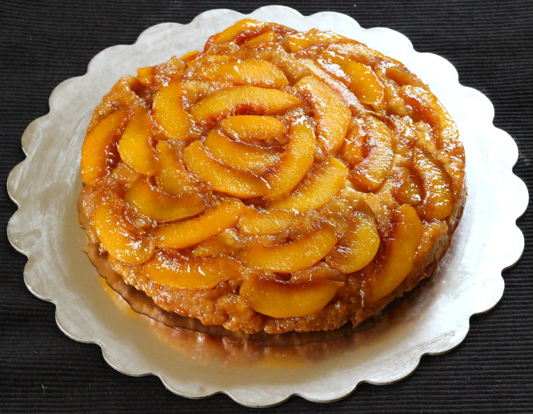 peach upside down cake cake cook with kushi 6406