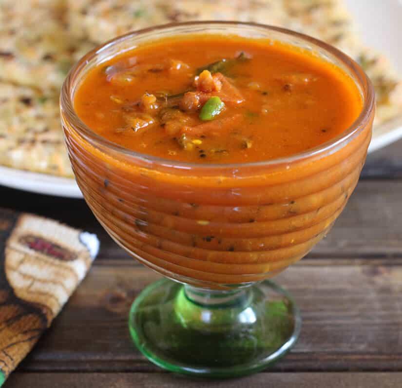 no onion no garlic tomato curry