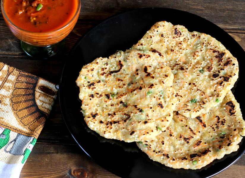 Sabudana Dosa, thalipeeth, upvas, vrat ka khana or Tapioca pancake
