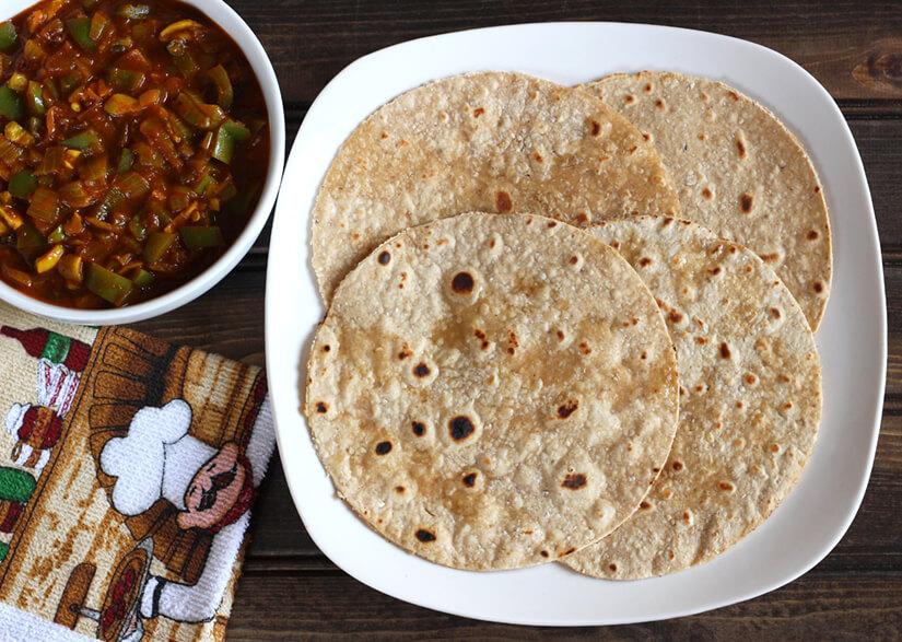 oats chapati, poori, puri