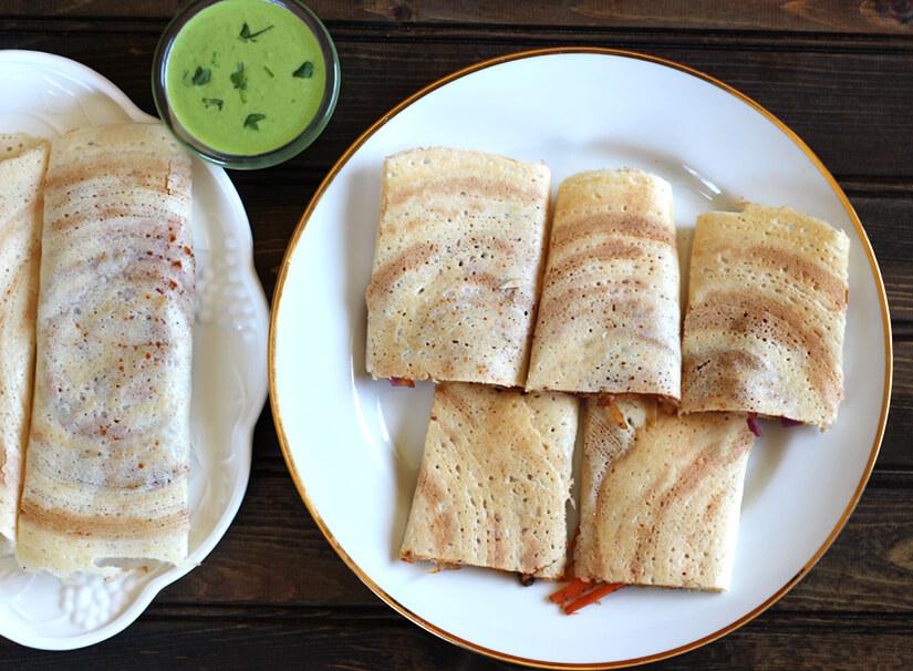 Spring Dosa / Pancakes / Crepes