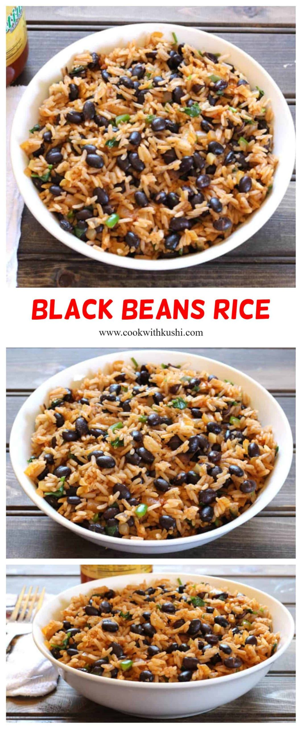 Black Beans Rice is spicy and incredibly delicious, nutty flavored vegetarian Mexican rice recipe that is a frequent dish at our dinner table.