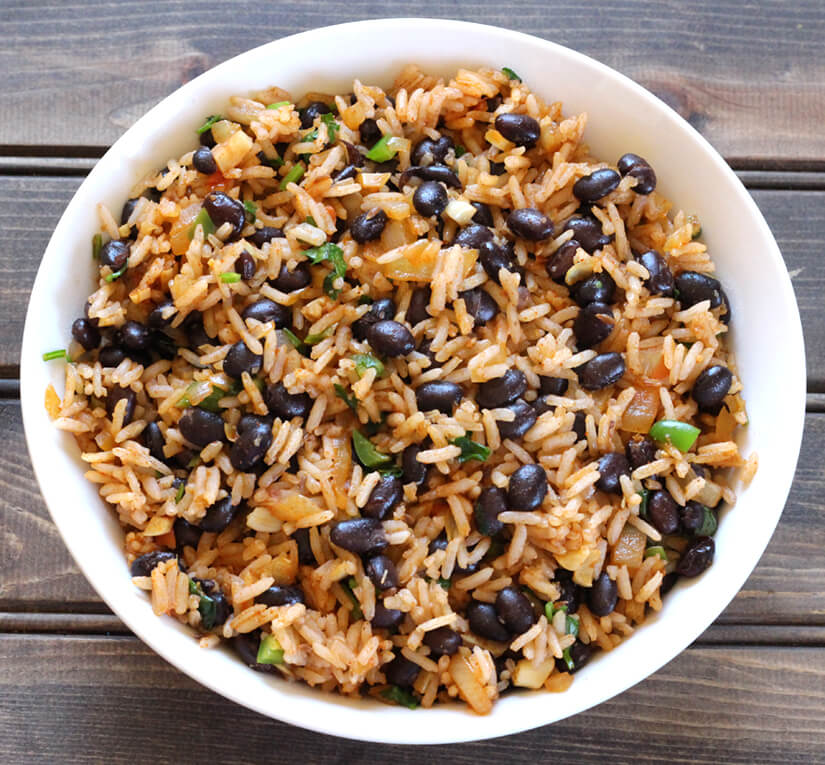 Black Beans Rice / spanish rice / red rice / arroz rojo / Mexican Rice /  recipes with black beans / how to cook black beans / mexican black beans / black beans and rice / Frijoles negros / cuban black beans / dry black beans / canned black beans recipe