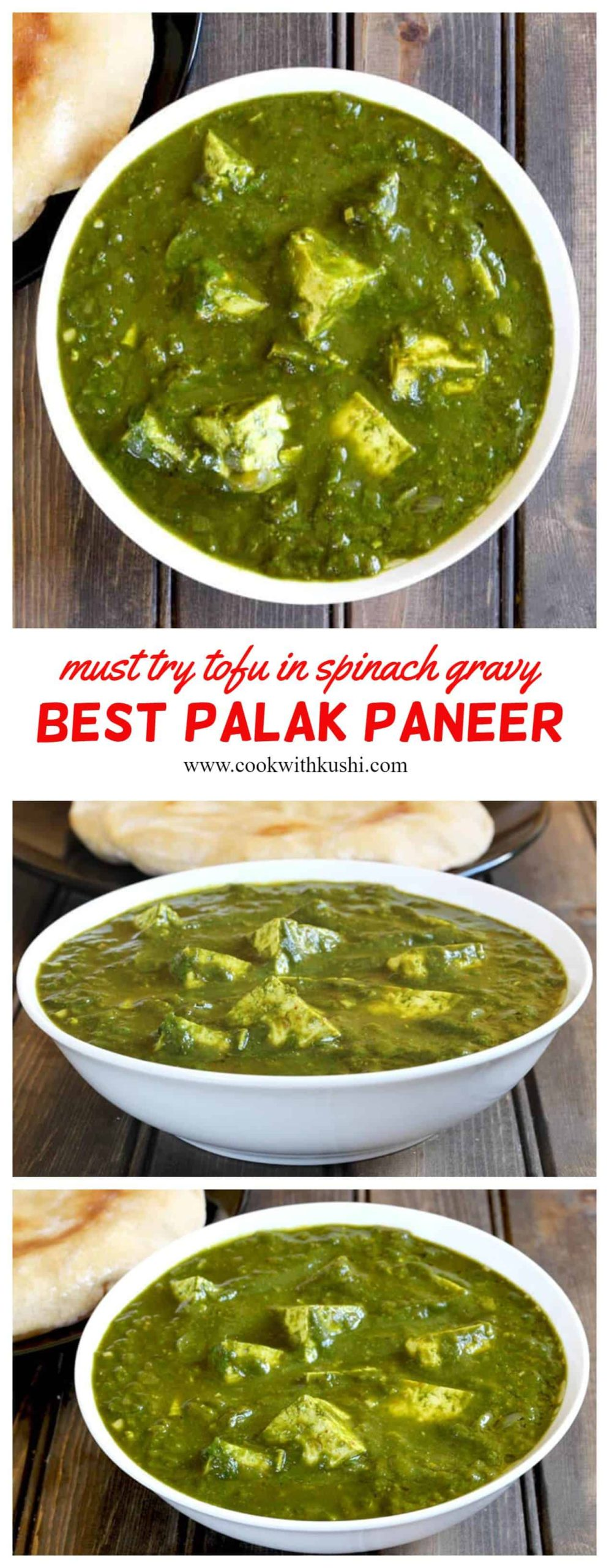 Palak Paneer is a popular Indian delicacy where the paneer or Indian cottage cheese is cooked in the spicy and aromatic spinach gravy. #palak #paneer #aloo #potatoes #sabji #curry #gravy #popularindianrecipes #tofurecipes #howtomakepalakpaneer #popularIndiandishes
