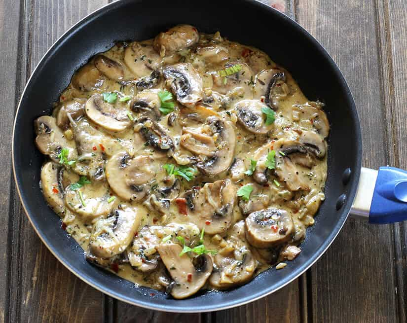 Mushroom In Garlic Cream Sauce
