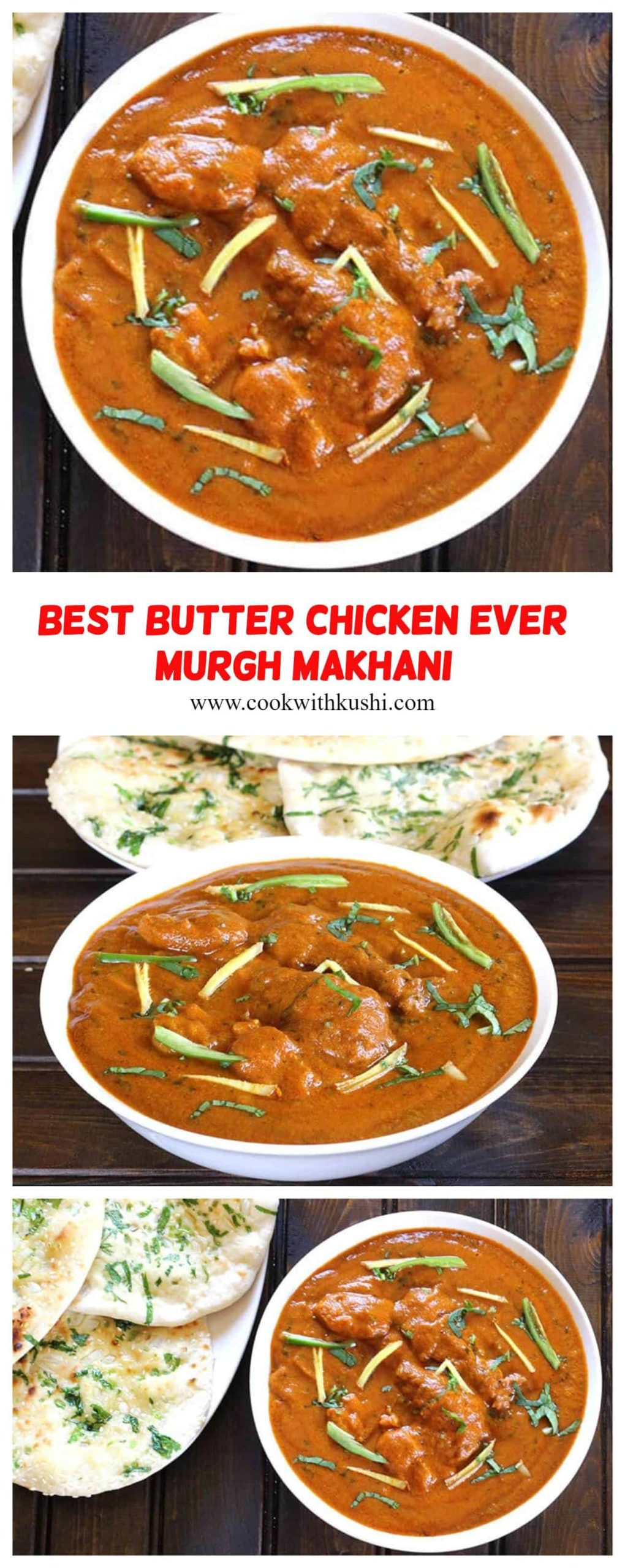 Butter Chicken or Murgh Makhani  is an easy to make, rich, creamy and delicious, popular Indian dish where the chicken is cooked in aromatic and spiced tomato based gravy. #butterchicken #creamybutterchicken #murghmakhani #indiandishes #indiangravy #indiancurry #chickenrecipes #dinnerideas #dinnerparties #dinnerrecipes #bestchickendishes #restaurantstyle #dhabastyle