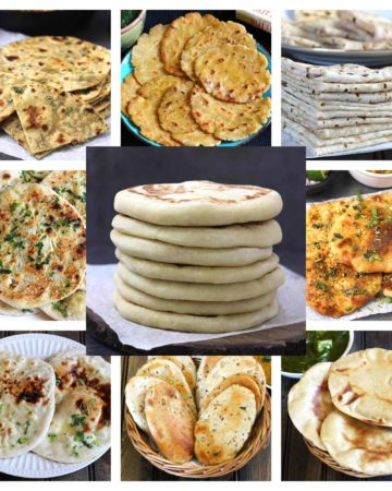 Best, quick and easy vegan flatbread recipes for pizza, rolls, shawarma, dinner, lunch, vegetarian meal, vegan dinner, naan, roti, chapati, thai bread, Italian flatbread, easy and popular bread recipes , soft and chewy bread