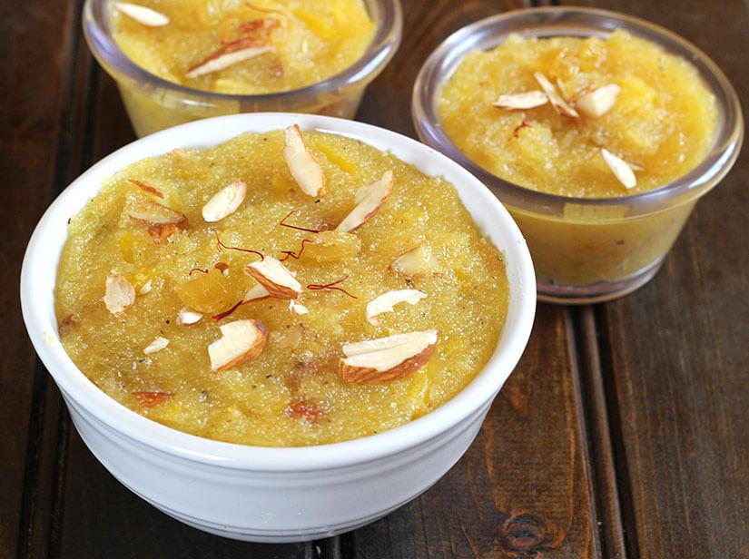 Pineapple Sheera / Pudding / rava kesari / pineapple sweets for lakshmi, ashtami, vrat