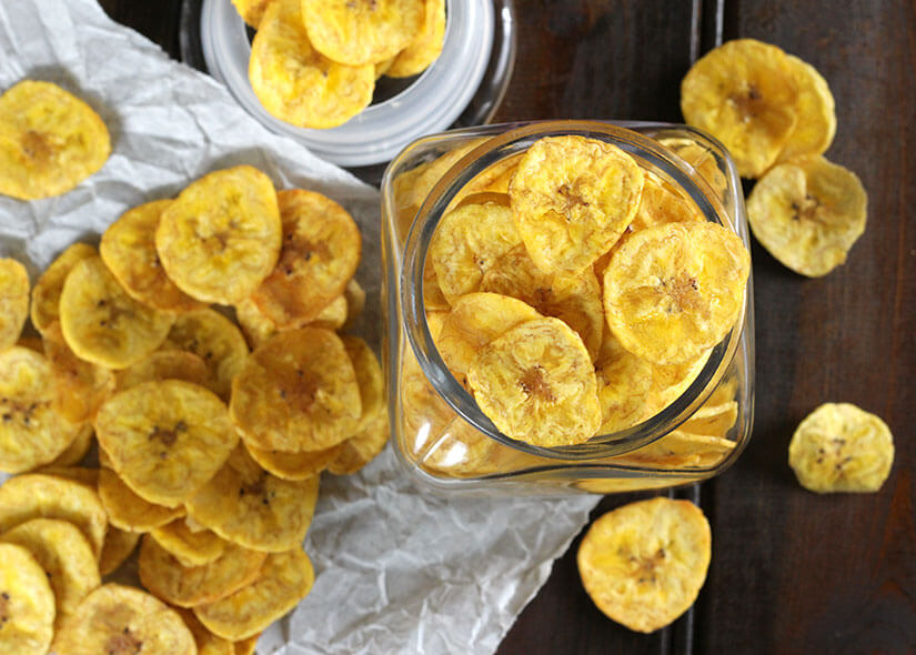 Vegan + Gluten Free Banana Chips
