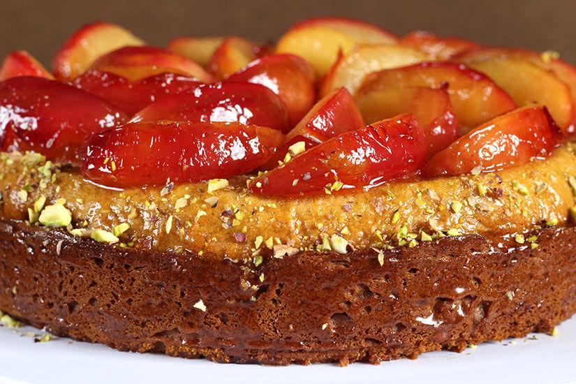 Truvia Nectar Plum Cake / Honey Plum Cake