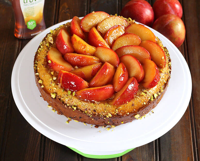 Truvia Nectar Plum Cake / Honey Plum Cake / Best Plum Cake Recipe / Honey Cake / Thanksgiving dessert / Summer Dessert / Holiday recipes / Back to school recipes / Christmas dessert