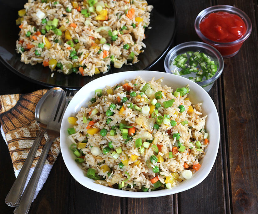 Indo Chinese Fried Rice or Vegetable Fried Rice or Veg Fried Rice