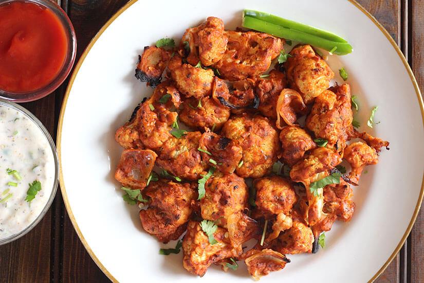 Tandoori Cauliflower / Oven roasted Cauliflower / Gobi
