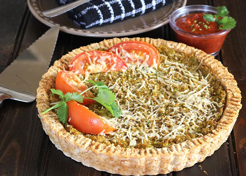 Cauliflower Potato Pie or Tandoori Pie