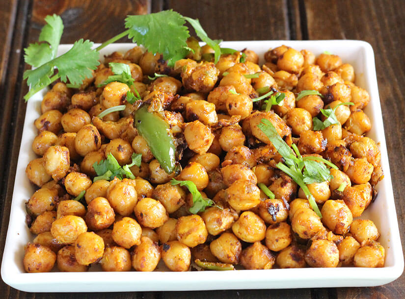 Chole Tikka, crispy and spicy chickpeas, football snacks