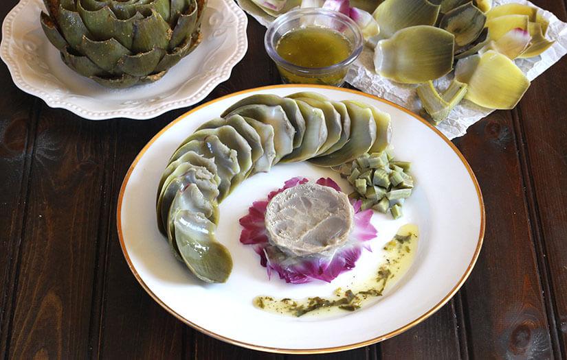 Artichoke With Garlic Butter Dip