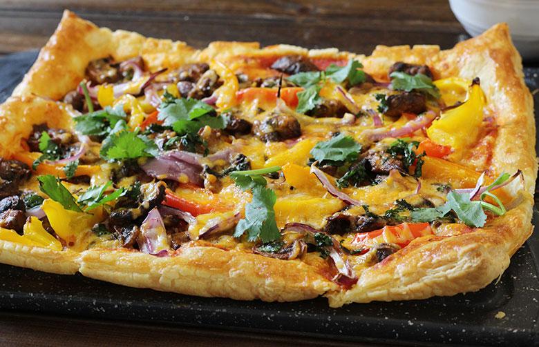 recipes using puff pastry sheets, pizza, turnovers, tarts, samosa, pinwheels