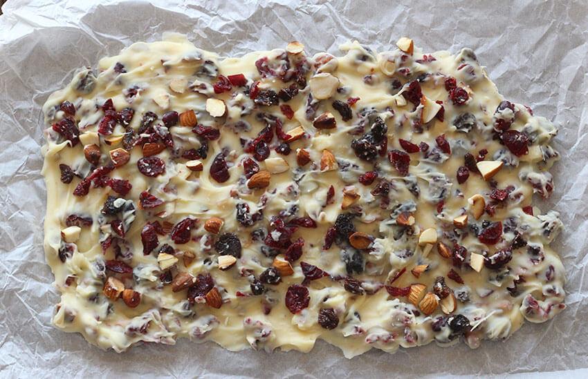 Chocolate Almond Cranberry Barks