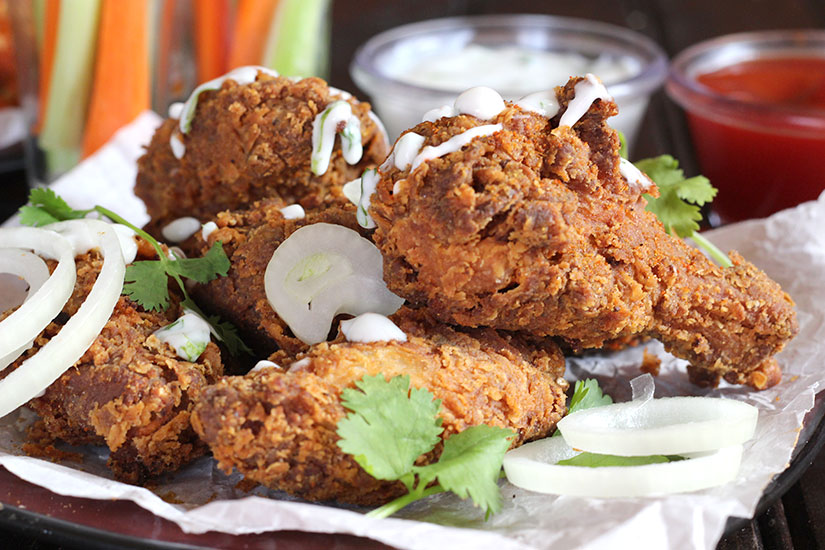 KFC style crispy chicken wings for game day or game night