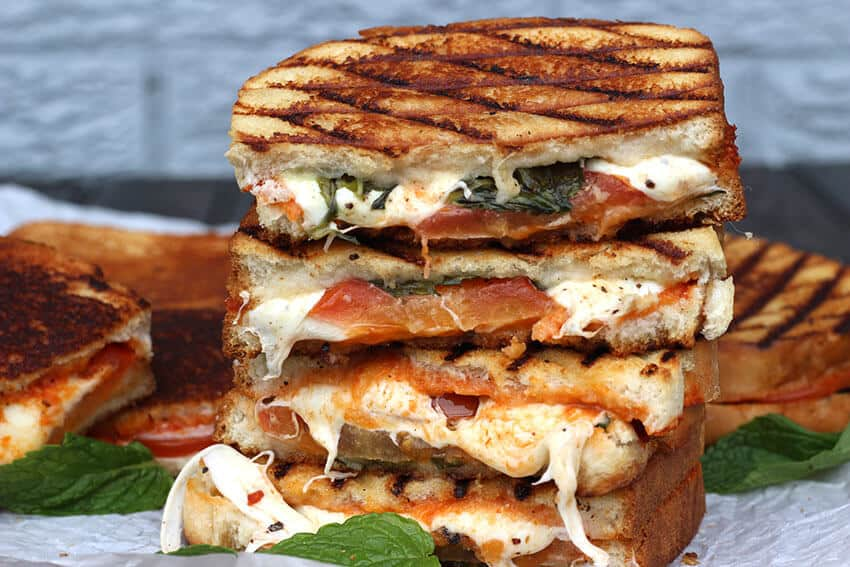 Grilled Margherita Sandwich Cook With Kushi