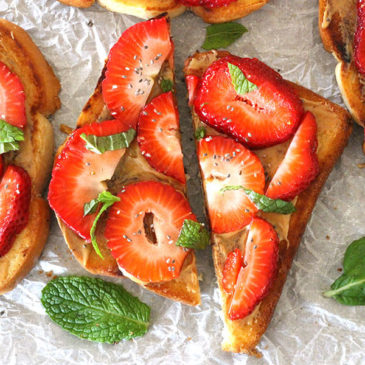 STRAWBERRY MINT TOAST