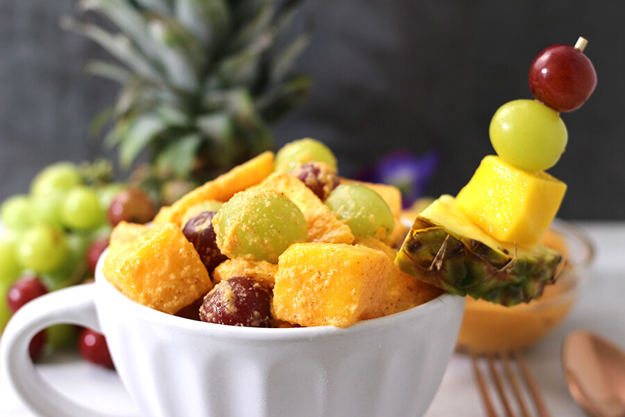 TROPICAL FRUIT SALAD - Cook with Kushi