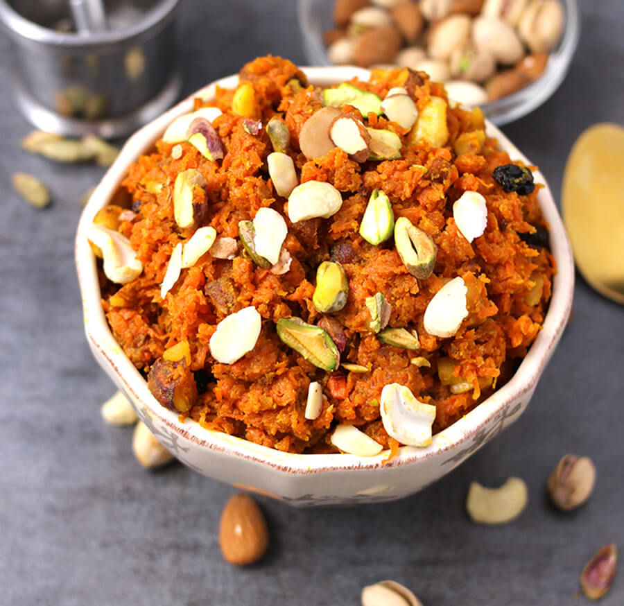 Image result for Image of carrot halwa