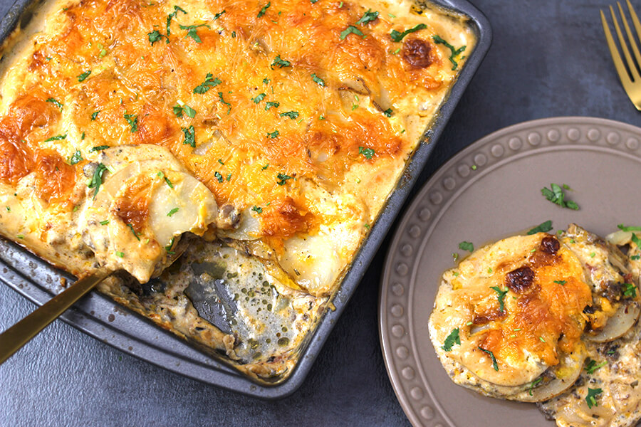 MEXICAN FLAVORED POTATOES AU GRATIN