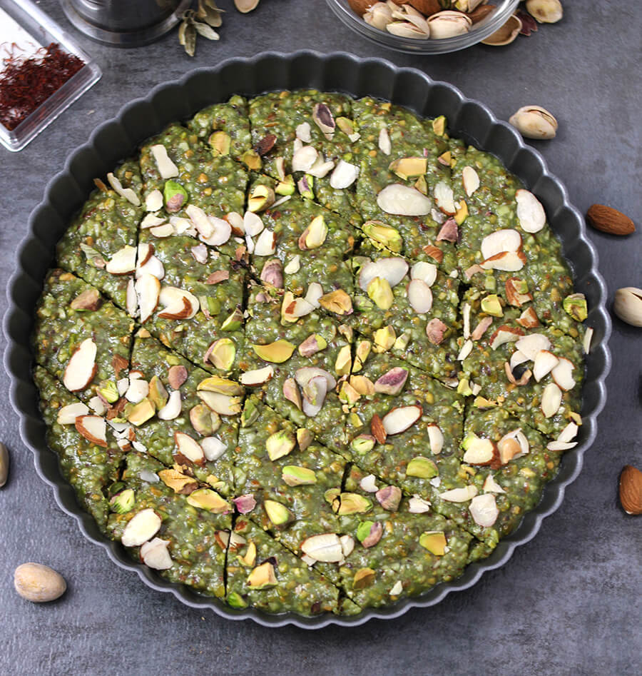 Desserts and Sweets Recipes / Best Indian Sweets / Diwali Sweets / Gluten Free Sweets / Badam Burfi / Badam Barfi / Pista Burfi / Badam Pista Burfi / kaju Katli / Almond Pistachios Fudge
