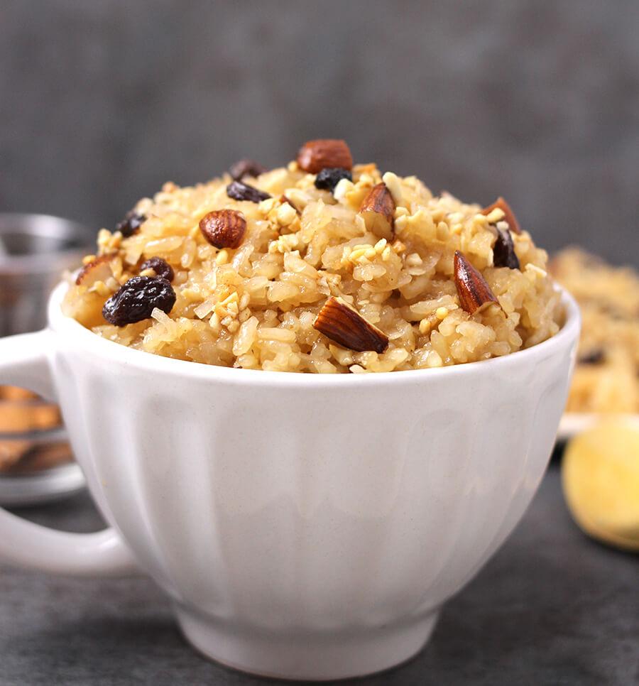Jaggery Rice , prasadam recipes for goddess lakshmi