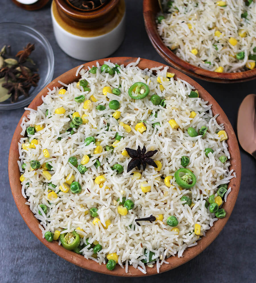 Ghee Rice / White Rice / vegan Rice / Best Rice Dish / Mexican Rice / Brown Rice Recipe / Rice Recipe Indian / Easy rice Recipes for dinner / South Indian Rice / Butter Rice / Simple Rice Recipe / festival recipe / Potluck recipes / Prasadam Recipes / Bhog Recipes / festival and Food / navratri recipe / Ghee Chaval / Sweet Corn recipe /Green Peas Recipe / Ghee Rice Kerala Style / Ghee rice in tamil / restaurant style/ jeera rice / cooking indian recipes / brown butter recipe / whole30 ghee recipe / desi ghee recipe/ Popular Indian Food recipes / Diwali Recipes /