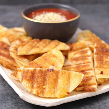 QUESADILLAS WITH GARLIC BUTTER