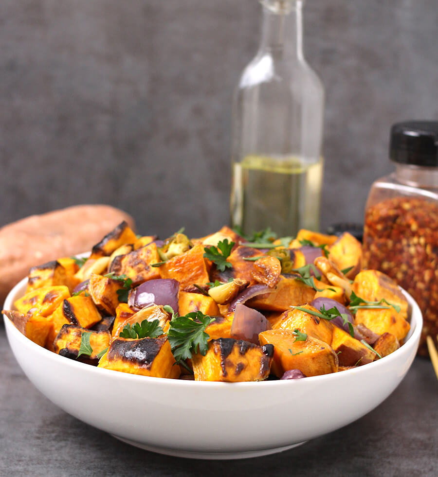 Roasted Sweet Potatoes Cook With Kushi