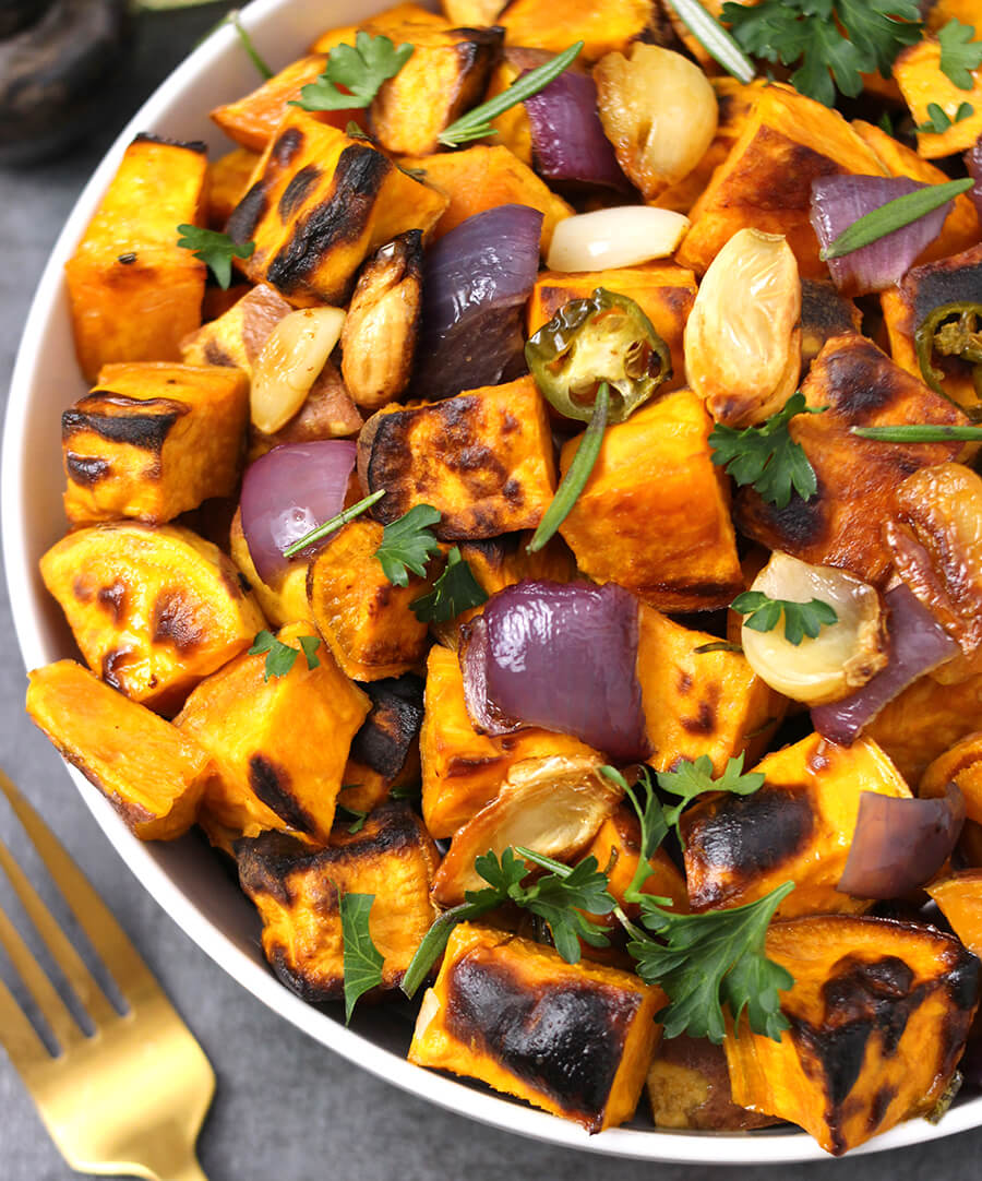 roasted sweet potatoes, Chicken recipes, tailgate recipes