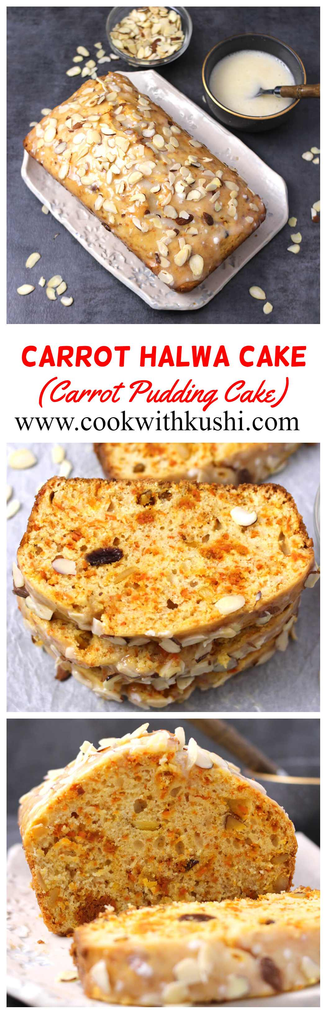 Carrot Halwa Cake Cook With Kushi