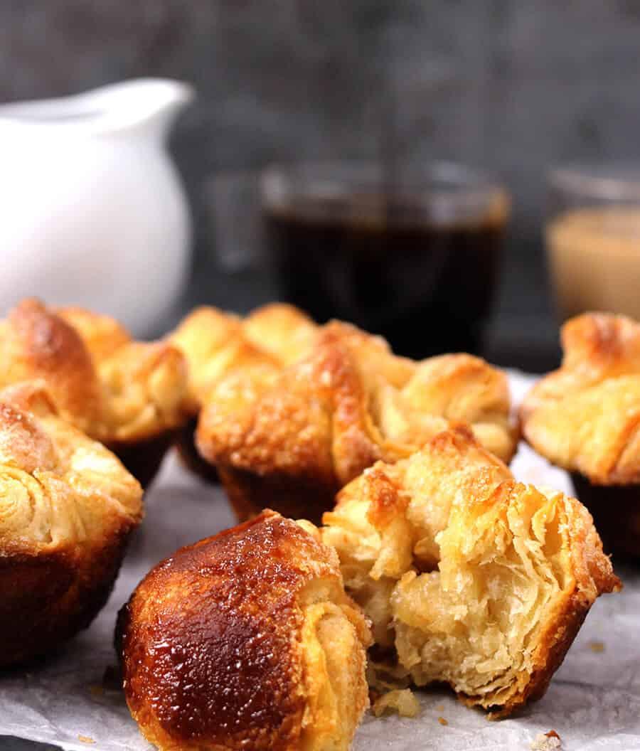 Kouign amann - Breton Cake, words best and fattiest pastry, french dessert