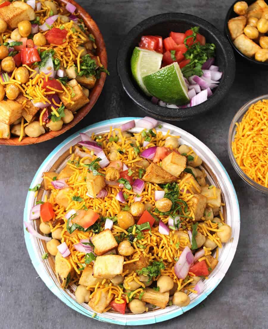 aloo chana chaat, potatoes, chickpeas, street food, , diwali recipes, Indian festival recipes