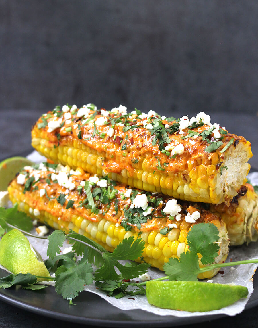 Mexican Corn on The Cob / Street Corn / Bhutta Recipes / Elote / Cinco De Mayo / Indian Street Food / Mexican Food / Gluten Free Recipes / Kids Friendly / Healthy Snacks / Best Snacks / Corn on the cob in oven / Corn on the cob in grill / Carnival food/ Holiday Recipes / Labor day recipes / barbecue Recipes / Labor day food ideas / Party food / Potluck food