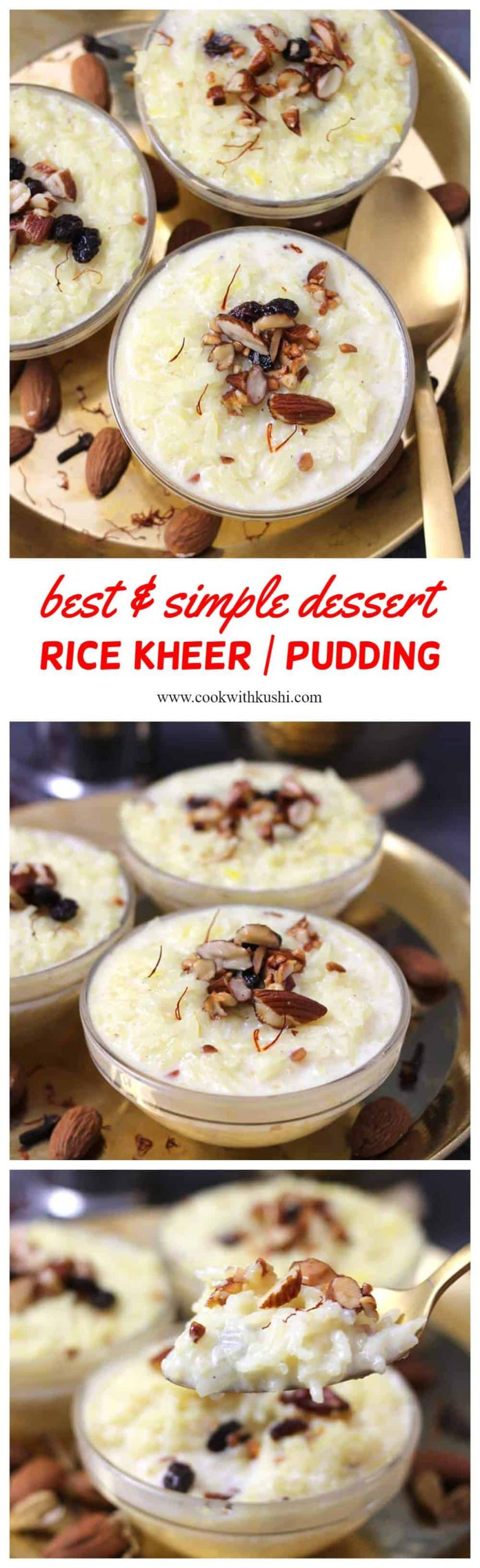 Doodhpak or Rice Kheer or Rice Pudding is a delightful and luxurious, traditional old fashioned Indian rice pudding prepared using rice, milk, nuts, and aromatic spices. This is dessert meant for the royals! #kheer #dessert #mithai #sweet #pudding #ricekheer #instantpotkheer #indiansweets #indiandesserts #doodhpak #pudding #veganpudding #Popularindianrecipes