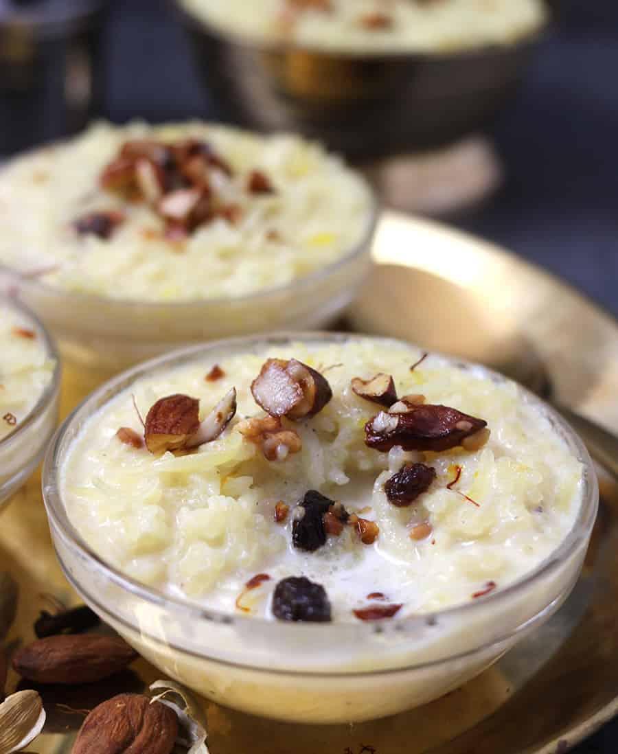DoodhPak, Kheer, Rice Pudding, Rice  Kheer, Instant pot kheer, What is kheer, Sabudana Kheer, White Rice Recipe, Navratri recipe, Diwali recipe, Karwa Chaut Recipe, Gujarati Doodhpak, ganesh Chaturthi Recipe, prasadam recipes, Diwali Sweets, kheer serving bowls, Popular & Best Indian sweets and desserts