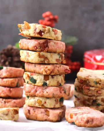 Candied Fruit Cookies, Karachi Biscuits Recipe