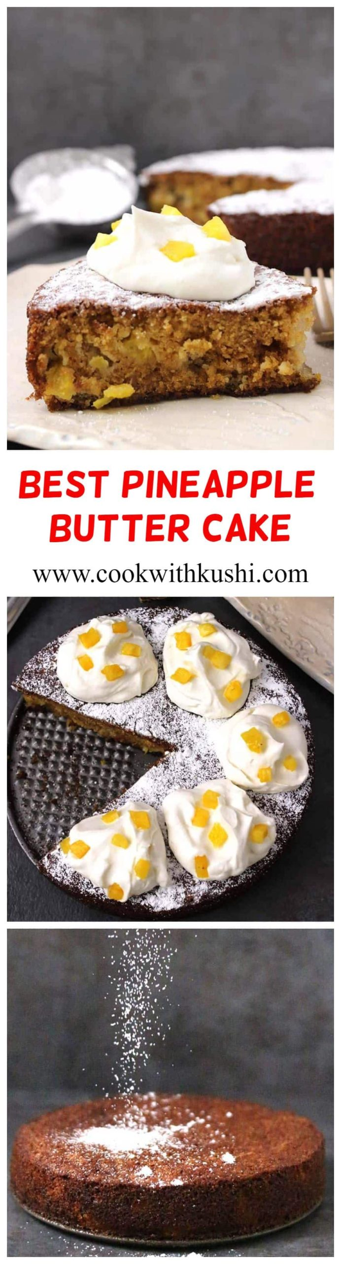 Pineapple Butter Cake is a classic and rich, super moist and buttery cake that is not only easy to make but so addictive that you will end up making it all the time! #easycake #pineapplecake #holidaybaking