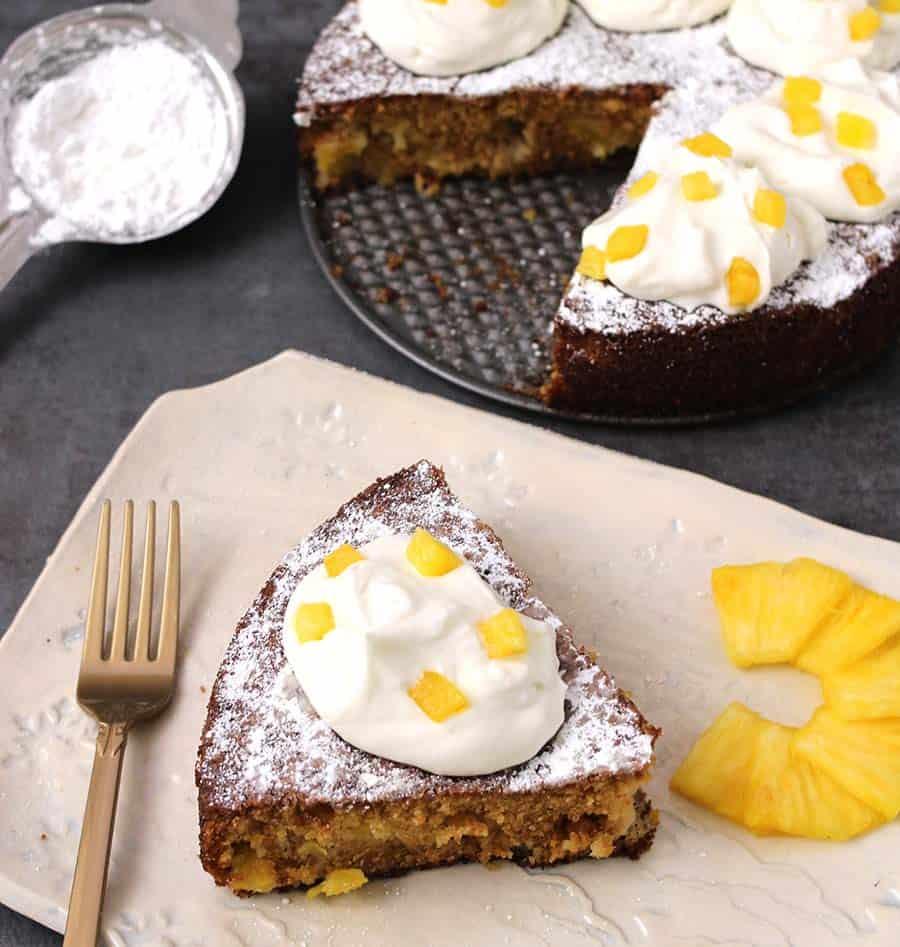 Pineapple Butter Cake / Ghee Cake / Pineapple recipes Indian / Thanksgiving desserts