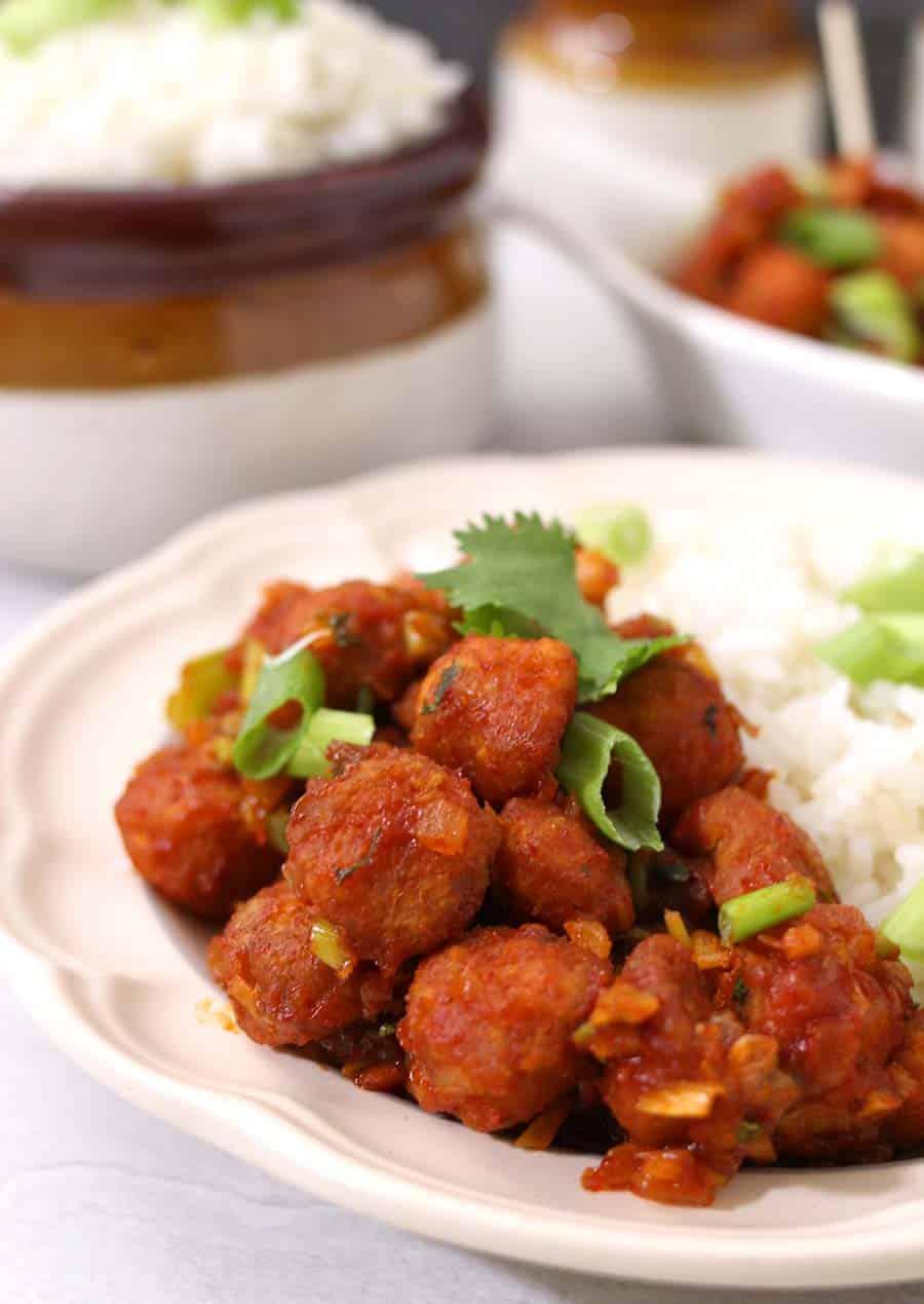 Soyabean Manchurian / Vegan Snack / Vegetarian Snack