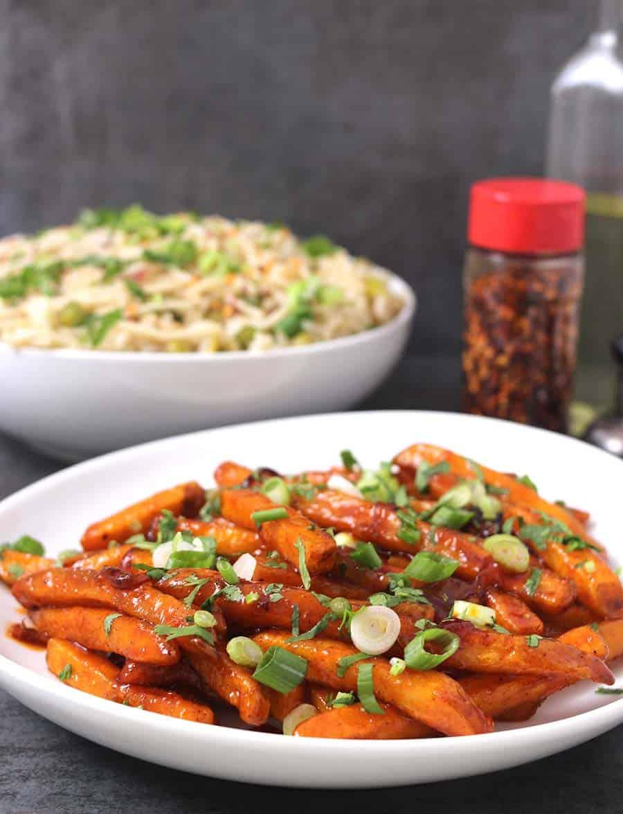 Crispy Honey Chilli Potatoes / Honey Sriracha Chicken / Party Food Ideas / Super Bowl Recipes, thanksgiving side dishes