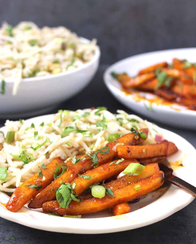 Crispy Honey Chili Potatoes / Honey Sriracha Sauce / Potato Recipes/ indian side dishes or appetizers