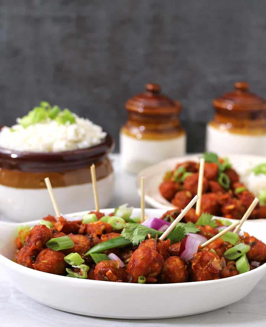 Soya Manchurian / Protein Rich Food / Indian Street Food / Vegan Tofu Recipes