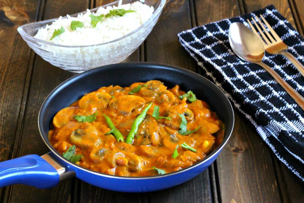 Paneer Butter Masala / Vegan and gluten free Mushroom Butter Masala / Indian butter Masala / Butter Chicken / Onion Tomato Masala, Makhani